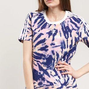 New Adidas Purple pink retro tie-dye t-shirt M